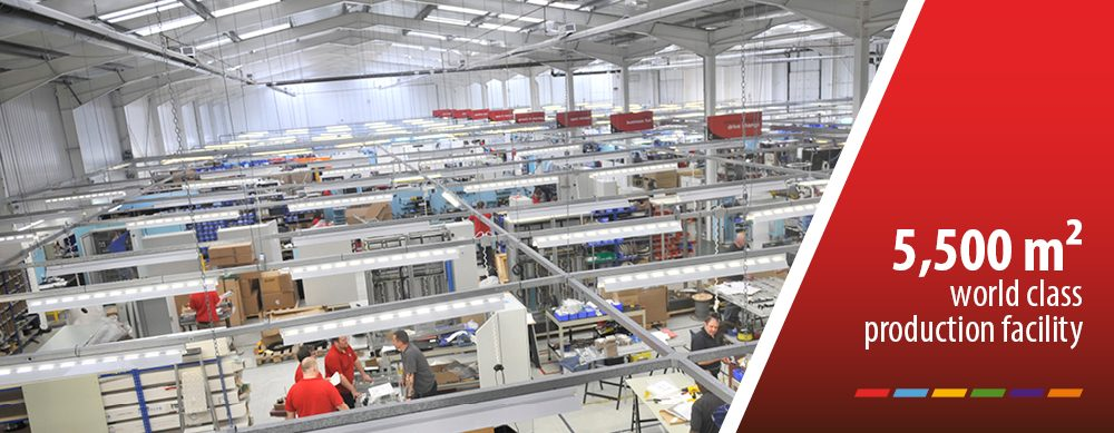 40000 sq ft production facility